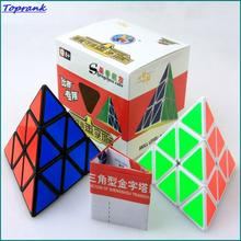 2016 shengshou Brand New Magic Cube Speed Puzzle Twist Cubes Educational Triangle Pyramid Pyraminx Cube Toys SS3JJZT