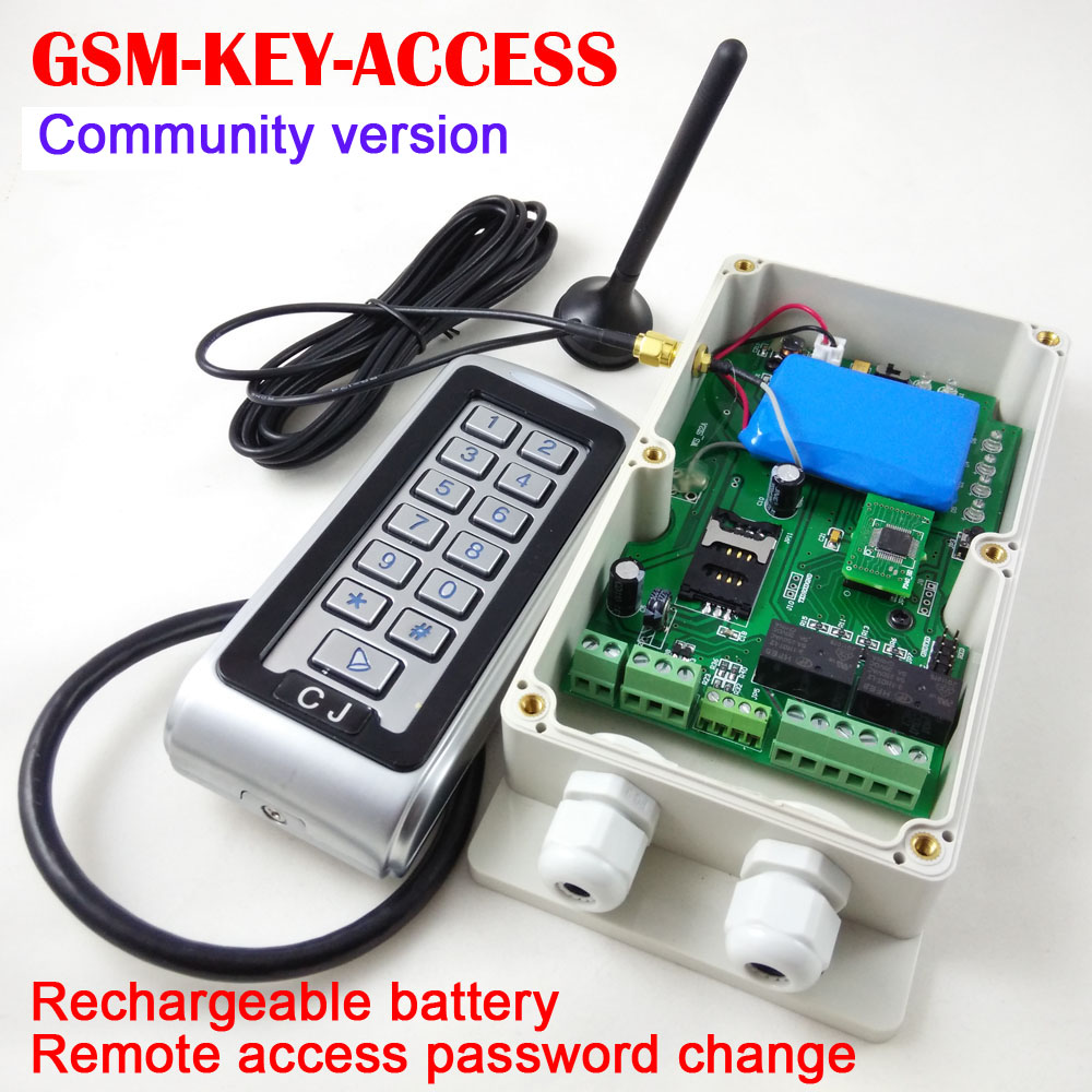 Water proof GSM Keypad access controller, gsm security automatic door access entry