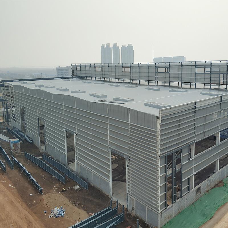 금속 조립식 강철 구조 좋은 환기 저렴한 스틸 닭 농장 폐쇄 빌딩