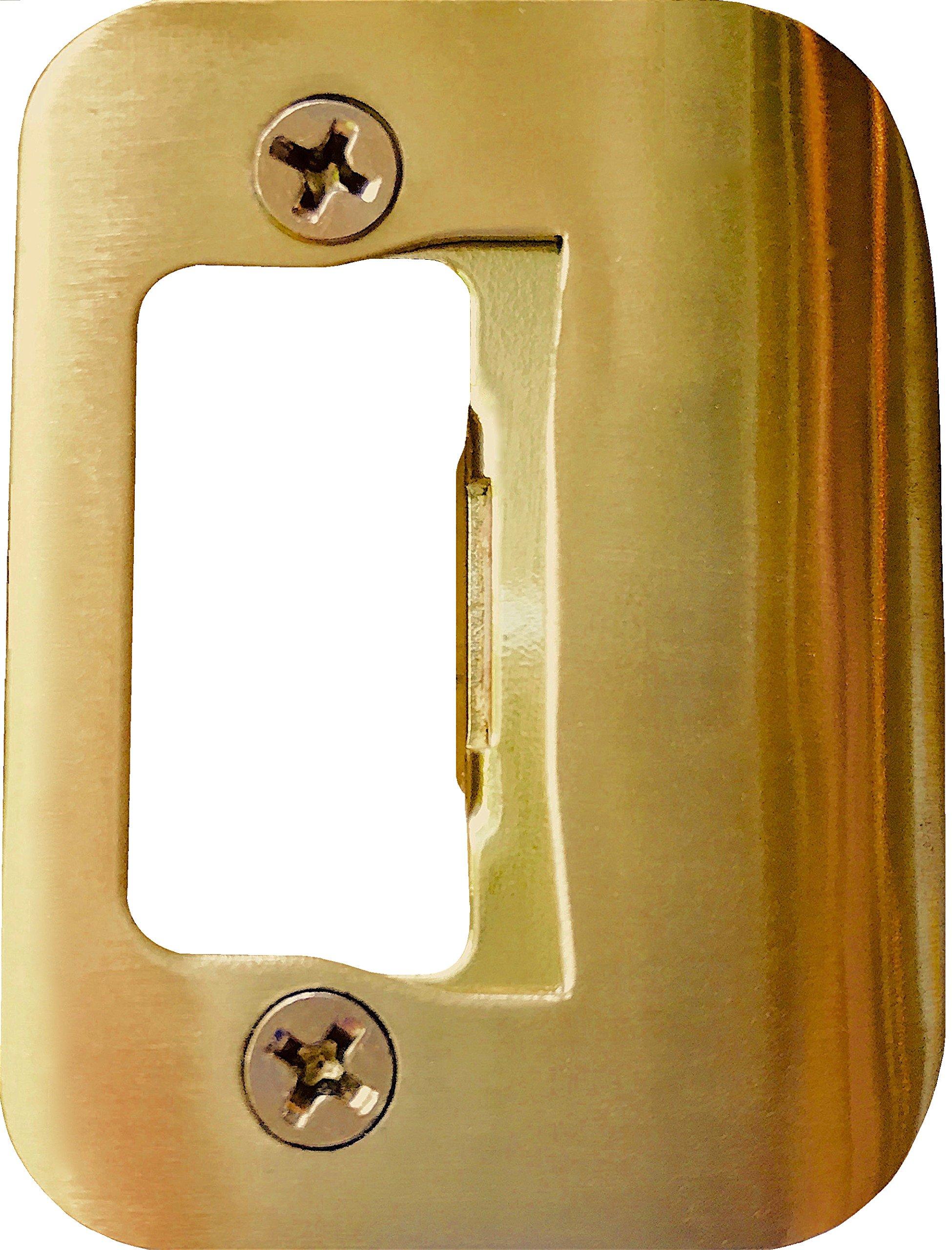GATOR Door Latch Restorer - Strike Plate (Bright Brass)