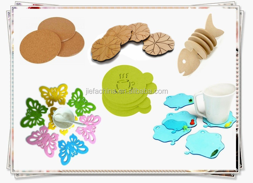 Fruit Design Cup Mat Table Placemat Silicone Rubber & Cork Coaster