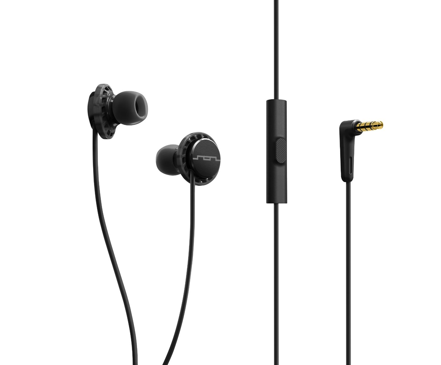 SOL REPUBLIC 1132-31 Relays 1-Button In-Ear Headphones - Black