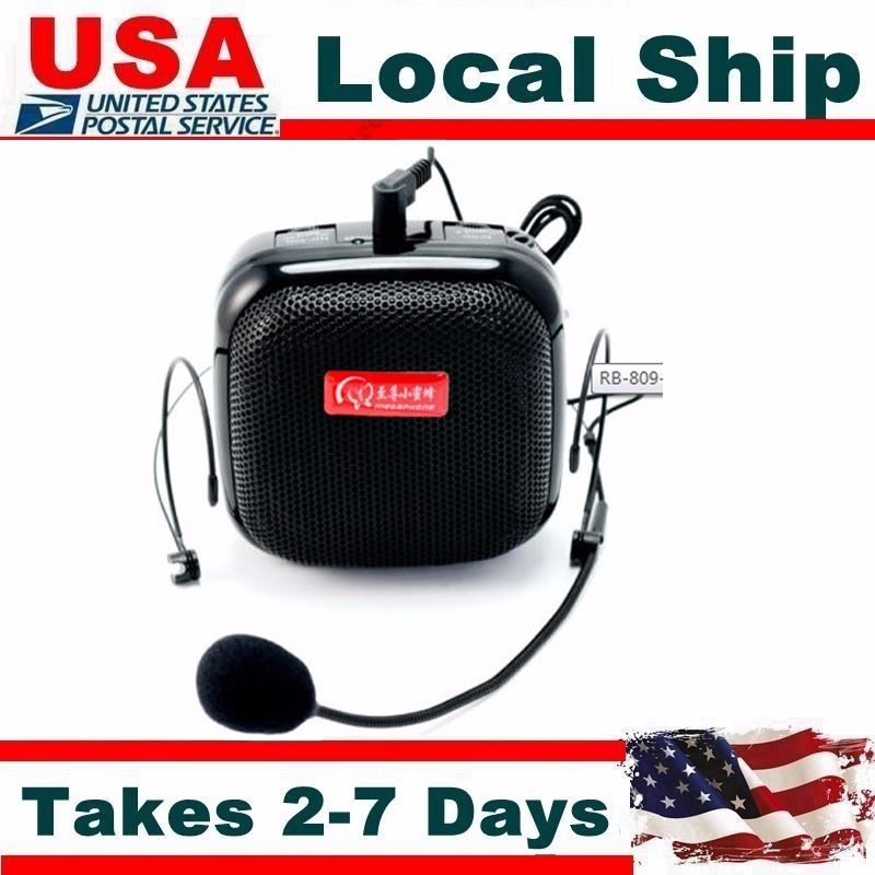 2016 US RB-809 25W Mini Size Portable Voice Booster Waistband Microphone PA Amplifier