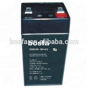 small sealed lead acid emergency equipment alarm system battery 4v 4.0ah rechargeable battery