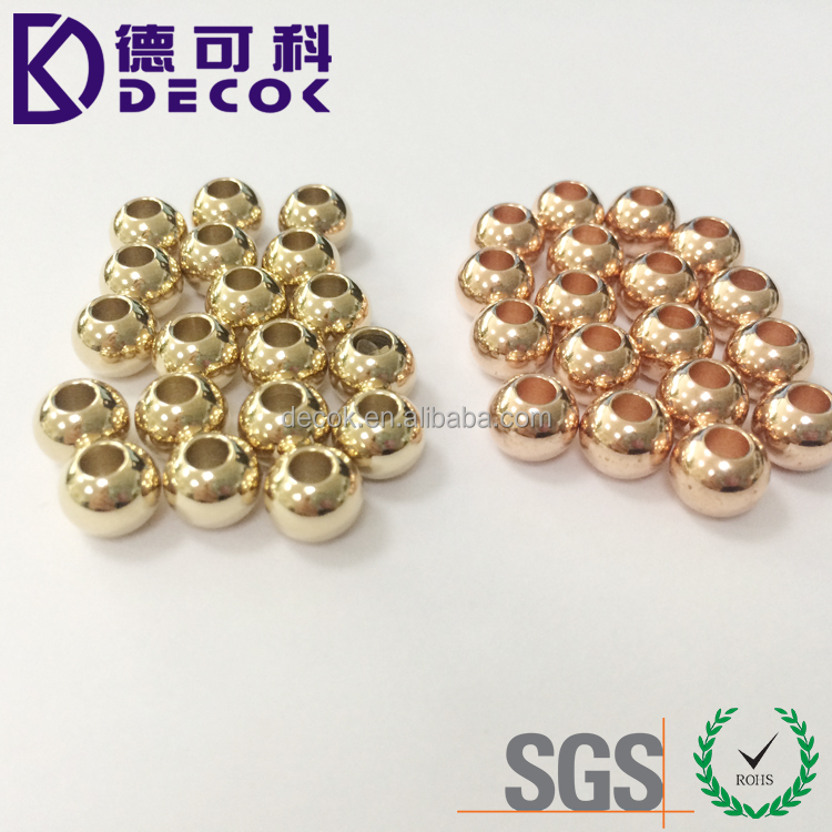 4mm 6mm 8mm 10mm rose gold silver tone inox stainless steel metal ball bead for jewelry making
