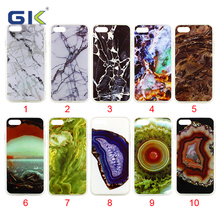[GK] Marble Design Double IMD TPU Cell Phone Case For iPhone 7 Back Cover