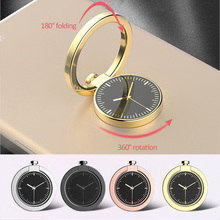 360 degree rotation Watch shape Phone grip Ring Holder for mobile phone Ring Stand