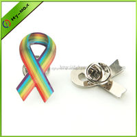 Aids awareness ribbon lapel pin