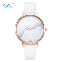 Shenzhen unique design watch ladies for promotion with custom logo leather watch band,white brief watches