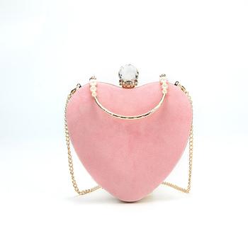 d0118d2cd6d7 Оптовая продажа Мода в форме сердца кожаная коробка клатч вечерняя женская  сумка