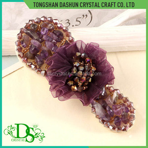 Fashion glass beads ladies shoe accessory