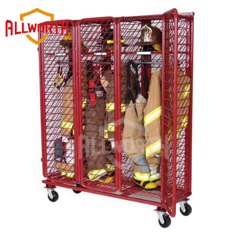 Almacén de malla de alambre de acero de la herramienta red bombero Rack carro