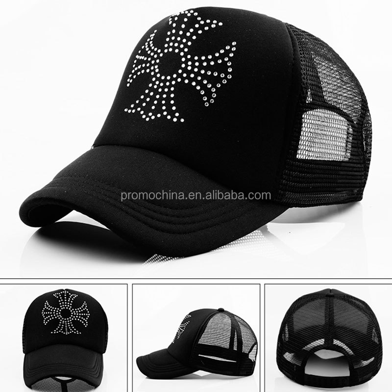 Wholesale High Quality Fashional Hot Unique Black Mesh Cap