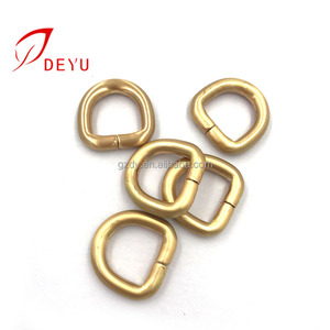 15mm brush gold custom small metal d ring wholesale