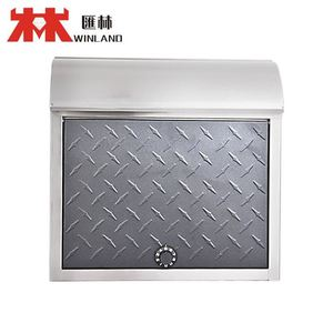 High Quality Galvanized Steel A4 size mailbox standing grey granite mailbox
