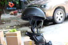 Shorty Helmet Matte Black Flat Adult Motorcycle Half Helmet ZJMOTO