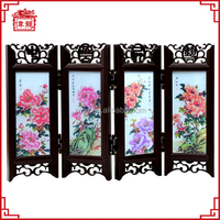 2015 Traditional style asian antique small folding screen for decoration PA067
