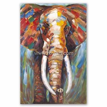 high quality modern abstract canvas art african animal elephant oil