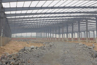 pre manufactured corrosion resistant chemical workshop steel structure