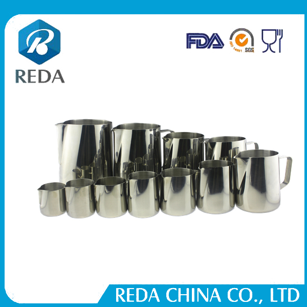 Espresso coffee machines wholesale Customized size and color stainless steel milk frothing pitcher