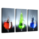 Glass Photo Print Wall Art/Modern Triptych Canvas Print/Framed Colorful Canvas Artwork