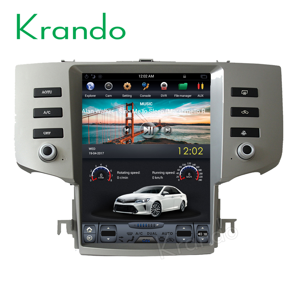 "Krando 12.1"" Tesla style Vertical screen Android <strong>car</strong> radio player for <strong>Toyota</strong> Mark X Reiz 2005-2009 multimedia system KD-TV224"