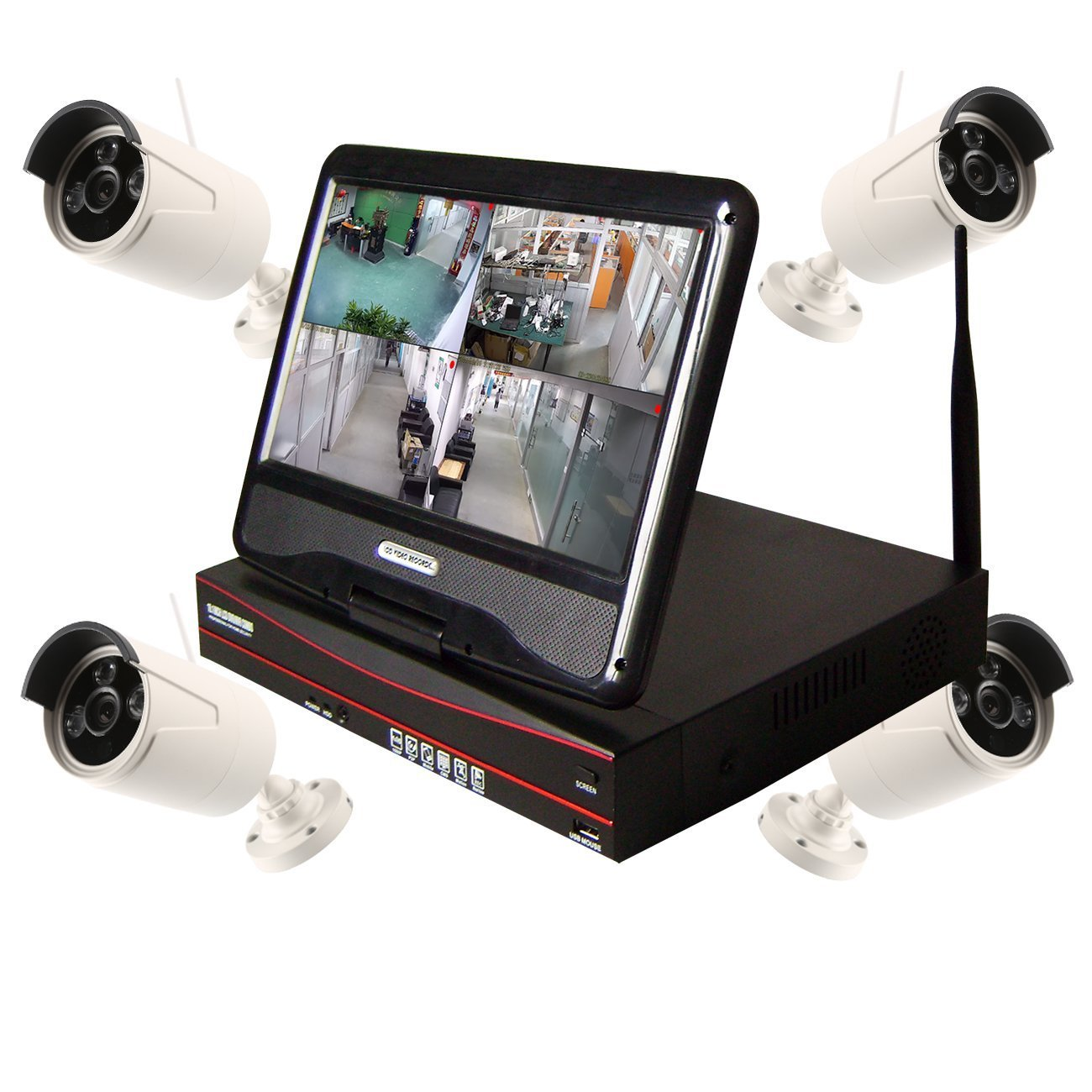 850677be4de Get Quotations · Home Security Camera System with 10