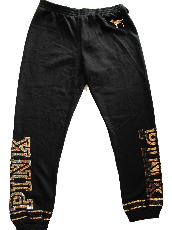 2b33ce5df0629 Buy Victorias Secret PINK Logo Bling Gold Sequin Skinny Sweatpants ...