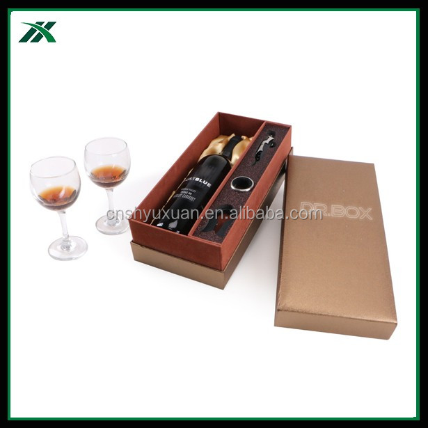 Exquisite design wine glass cardboard paper gift box