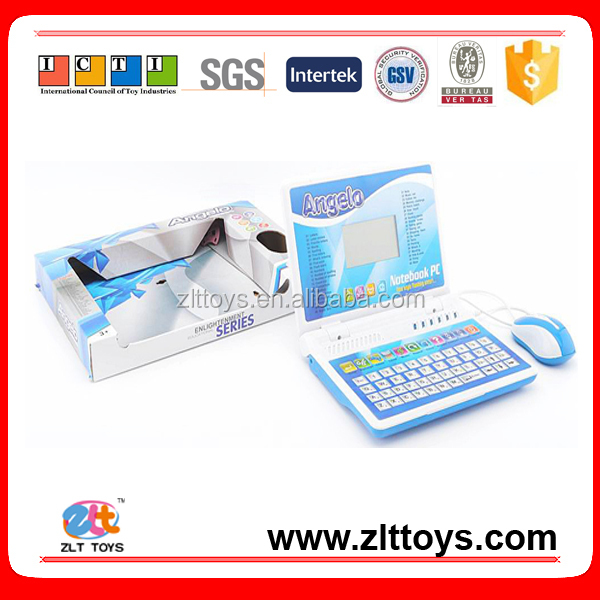 English and spanish bilingual laptop computer toys with mouse