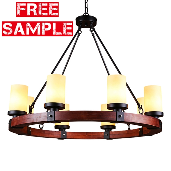 Ceiling Lights & Fans Well-Educated Hotel Lighting Fixture Church Chandeliers Living Room Chandelier Glass Shade Resin Red Wood Chandelier Restaurant Bar Lighting