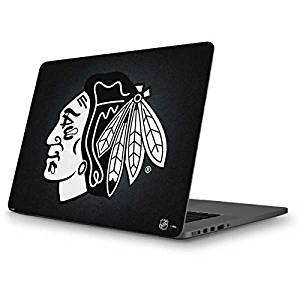 NHL Chicago Blackhawks MacBook Pro 13 (2013-15 Retina Display) Skin - Chicago Blackhawks Black Background Vinyl Decal Skin For Your MacBook Pro 13 (2013-15 Retina Display)