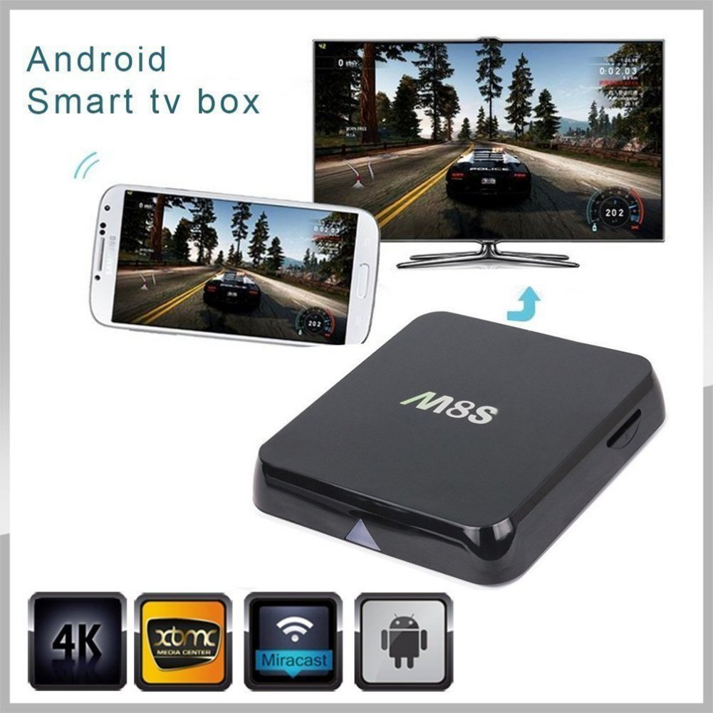 Norbi M8S 4K Android Quad Core 3D Network TV Box Octa-core Mali-450MP GPU 2G/8G (8 GPU)