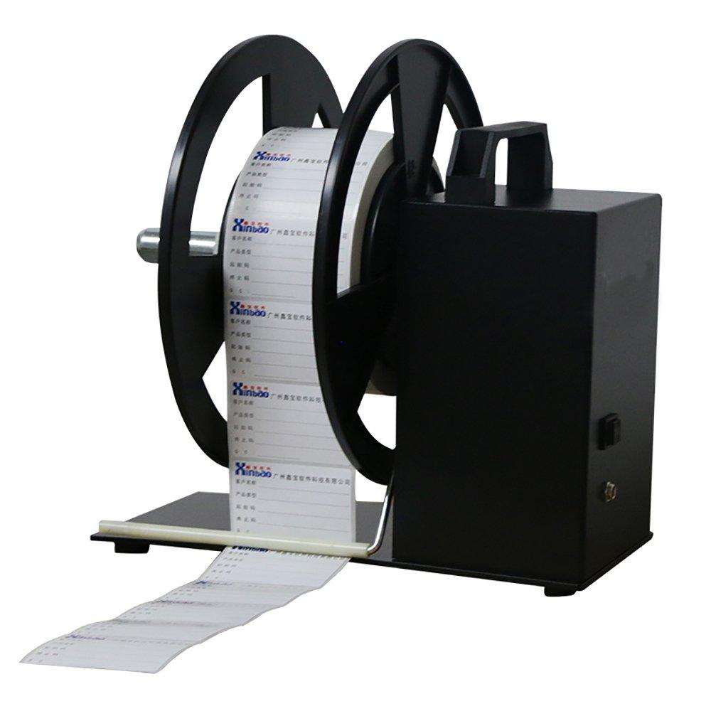 QQTCW Series Label Rewinder Synchronize Machine Automatic Label Rewinder Speed Label Printer Rewinding Machine Digital Tag Rewinder (Maximum rewind: 12cmwidth)