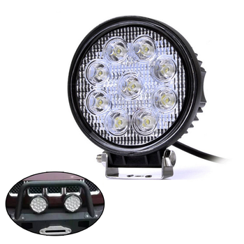 Ipx68 4 Round Led Work Light Waterproof 27w Off Road 12v 24v Led Trailer Lights Buy Led Trailer Lights Waterproof 27w Lights Round Led Work Light