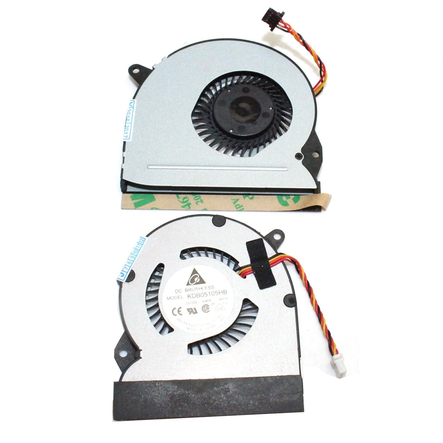 Generic New Laptop CPU Cooling Fan L + R For ASUS Eee Pad Slate EP121 B121 B121-1A031F Series Replacement Parts