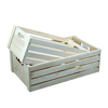 Factory supply fsc&carb wood vegetable crate for sale