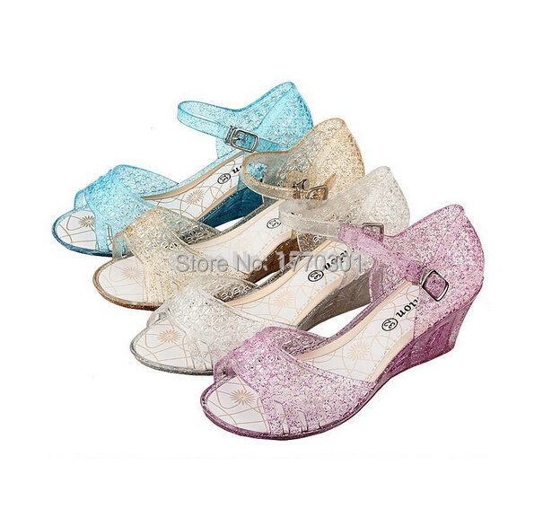b9d1dd93c Buy Hot Sales Elsa Princess Queen Anna Fancy Dress up Cosplay Jelly Shoes  Kids Girls Xmas Gift Sandals Free Shipping in Cheap Price on m.alibaba.com