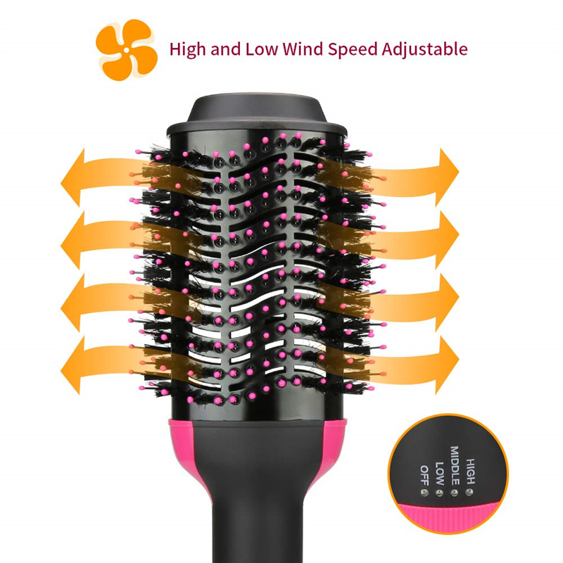 One Step Hair Dryer Volumizer Hot Air Brush 3 in1 Styling Brush Styler Negative Ion Hair Straightener Curler Brush for All Hair