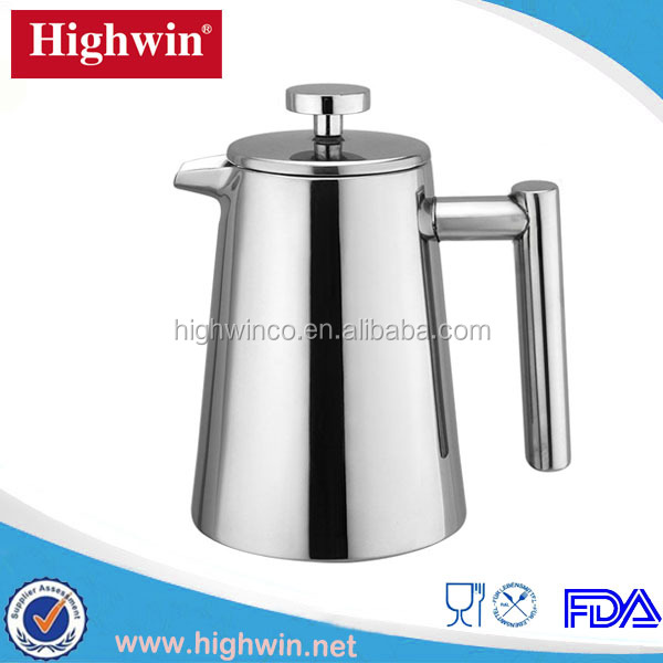 Highwin factory hot sale stainless steel double wall stovetop espresso maker