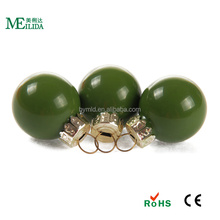 1 inch Popular sale small glass christmas balls with dark green