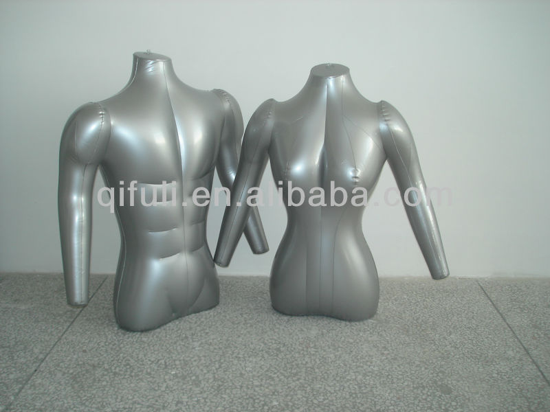 Inflatable Mannequin Torso Half Size with Arms