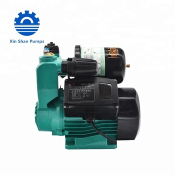 SISAN High Quality 0.5HP AC Mini Electric Self-priming Pump with Base Brass Impeller low noise high pressure home use hot water