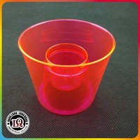 Disposable pink plastic PS bomber shot cup