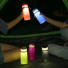 Hot Popular Customized BPA Free Silicone Foldable Camping Water Bottle