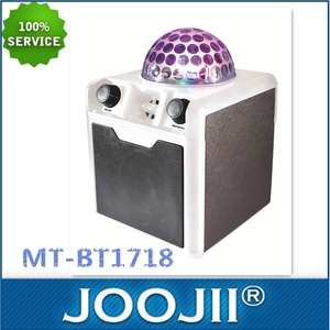 5w karaoke speaker with disco lights and BT, AUX, TF, USB, MIC, REMOTE functions