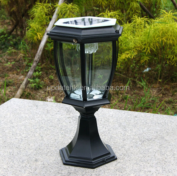 D coration pilier porte lumi re 12 led solaire lampadaires Lumiere led jardin