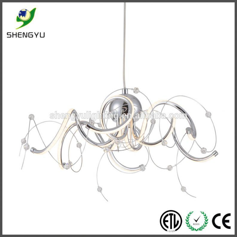 custom make round acrylic dining led light modern led round ball pendant light for decoration