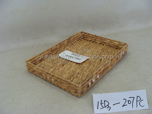 customized water hyacinth tray Junan handicraft products