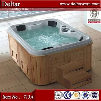 Beautiful High Quality Acrylic Hydromassage Bathtub 713a With Wood ...